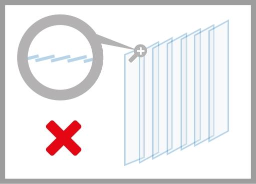 PVC-Streifenvorhang falsche Aufhängung