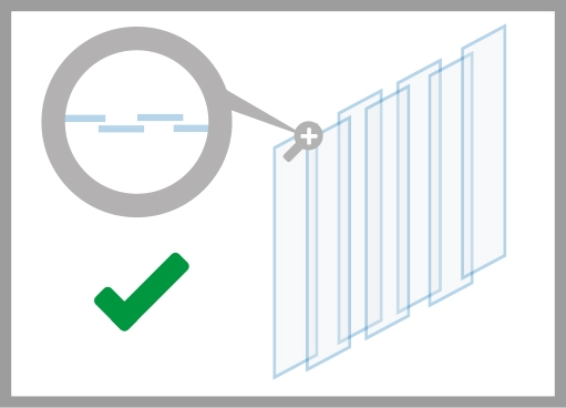 PVC-Streifenvorhang korrekte Aufhängung
