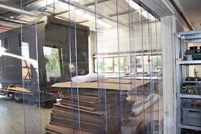 PVC-Streifenvorhang als Raumteiler