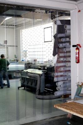 PVC Streifenvorhang als Schallschutzvorhang