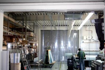 Streifenvorhang PVC zum Staubschutz für empfindliche Maschinen