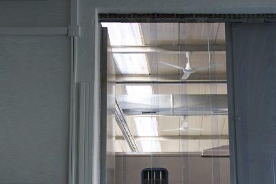 transparenter Streifenvorhang aus PVC-Lamellen