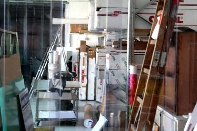 PVC Streifenvorhang - freier Blick trotz Kälteschutz