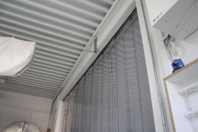 Streifenvorhang PVC - Montage im Sturz (Durchgang)