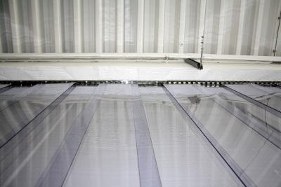 Streifenvorhang PVC - Ansicht von unten