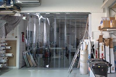 Streifenvorhang - Staub- und Kälteschutz