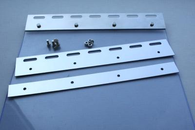 PVC-Streifenvorhang im Stall schnell montiert